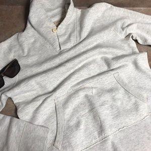 J. Crew Vintage Fleece shawl collar sweatshirt